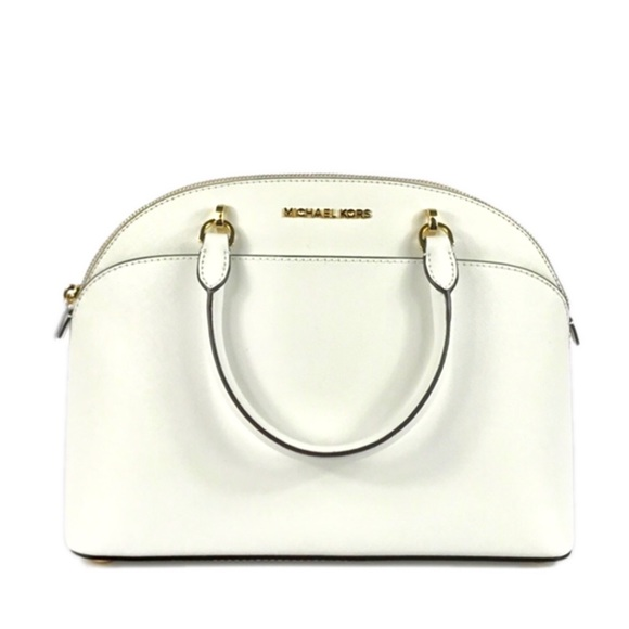 56158e963c99 Michael Kors Emmy Lg Dome Satchel Optic White